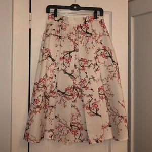 Dresses & Skirts - White Floral Midi Skirt